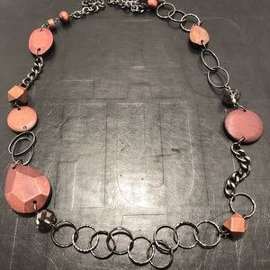 Jewelry - Statement Wood Bead Black Chain Necklace